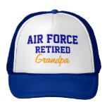 Casquillo jubilado fuerza aérea del abuelo gorros