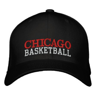 Casquillo negro del baloncesto de CHICAGO Gorras De Beisbol Bordadas