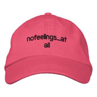 """casquillo para mujer de los """"nofeelings"""" gorras de béisbol bordadas"""
