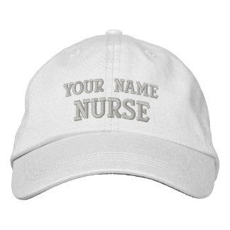Casquillo personalizado de la enfermera gorras de béisbol bordadas
