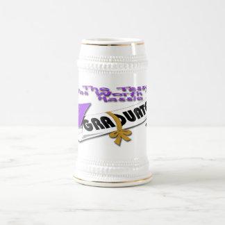Casquillo púrpura del graduado del diploma Stein ( Taza