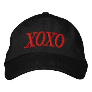 Casquillo rojo y negro de XOXO de las señoras Gorra Bordada