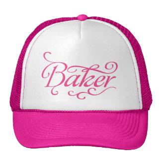 Casquillo rosado del panadero gorras
