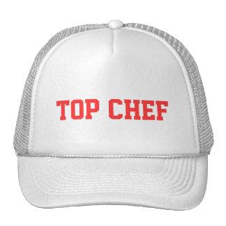 Casquillo superior del cocinero gorras
