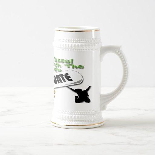 Casquillo verde del graduado del diploma (varón) S Taza De Café
