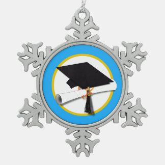 Casquillo w/Diploma - fondo azul claro de la Adorno