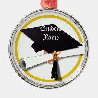 Casquillo y diploma de la graduación adornos de navidad