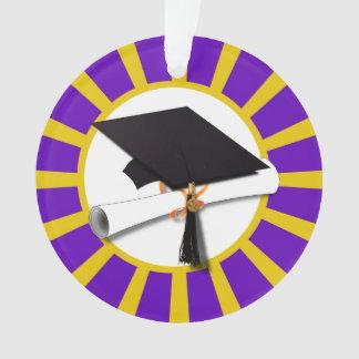 Casquillo y diploma del graduado - púrpura y