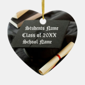 Casquillo y diploma personalizados de la graduació adorno