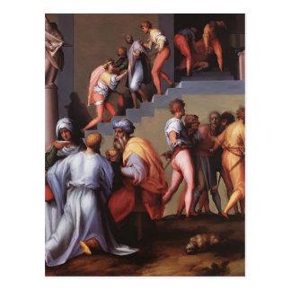 Castigo del panadero de Jacopo Pontormo Postal