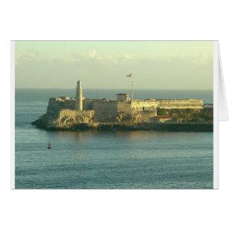 Castill del Morro La Habana Cuba Tarjeta De Felicitación