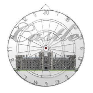 Castillo británico clásico con el texto del diana