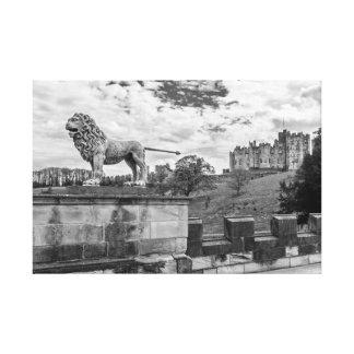 Castillo de Alnwick, Northumberland Lona Envuelta Para Galerías