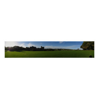Castillo de Alnwick panorámico Póster