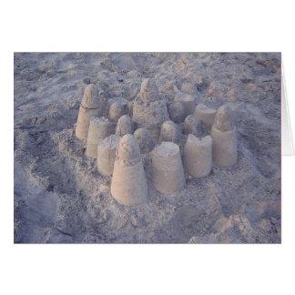 castillo de arena soñador tarjeta