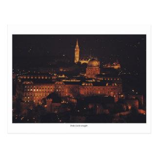 Castillo de Buda en la noche Postal