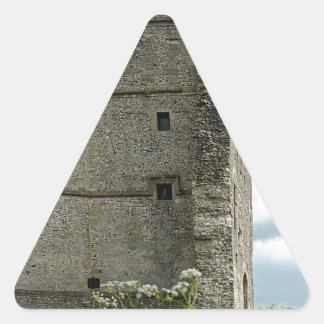 Castillo de Donnington Pegatina Triangular