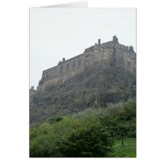 Castillo de Edimburgo en la niebla Tarjeta De Felicitación