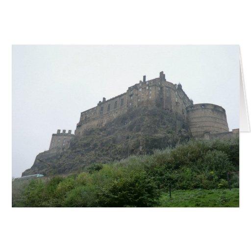 Castillo de Edimburgo en la niebla Tarjeta