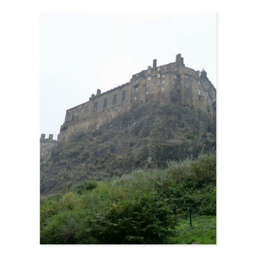 Castillo de Edimburgo en la niebla Tarjeta Postal