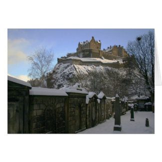 Castillo de Edimburgo en la nieve Tarjeta De Felicitación