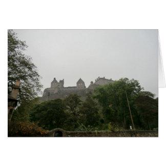 Castillo de Edimburgo Tarjeta De Felicitación
