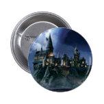 Castillo de Hogwarts en la noche Chapa Redonda 5 Cm
