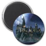 Castillo de Hogwarts en la noche Imán Redondo 5 Cm