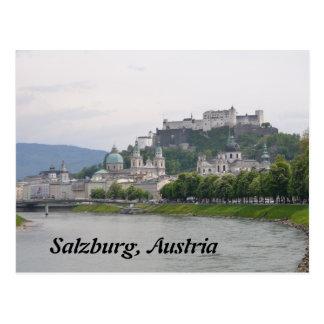 Castillo de Hohensalzburg, postal de Salzburg,