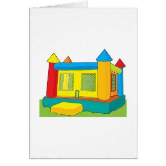 Castillo de la despedida tarjeta de felicitación