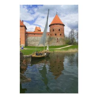 Castillo de la isla por el lago Galve, Trakai, Lit Impresiones Fotograficas