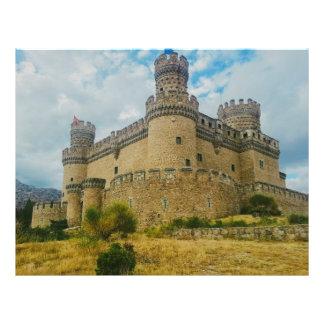 Castillo de Manzanares el Real, Madrid Tarjeta Publicitaria