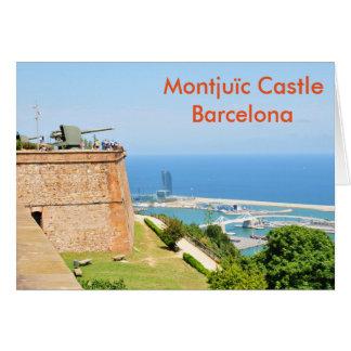 Castillo de Montjuic, Barcelona Tarjeta