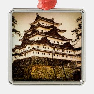 Castillo de Nagoya en 名古屋城 antiguo del vintage de Adorno De Cerámica