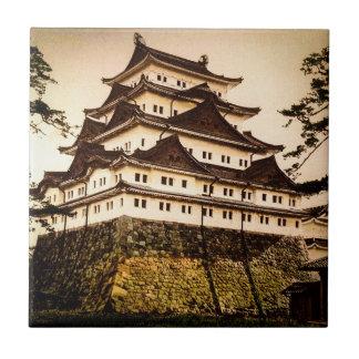 Castillo de Nagoya en 名古屋城 antiguo del vintage de Azulejo De Cerámica