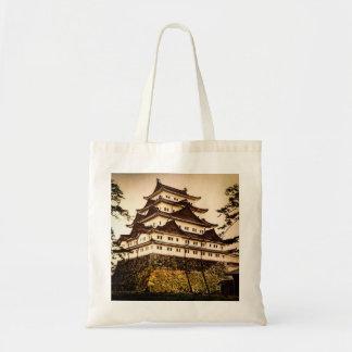 Castillo de Nagoya en 名古屋城 antiguo del vintage de Bolso De Tela
