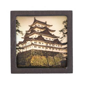 Castillo de Nagoya en 名古屋城 antiguo del vintage de Caja De Regalo