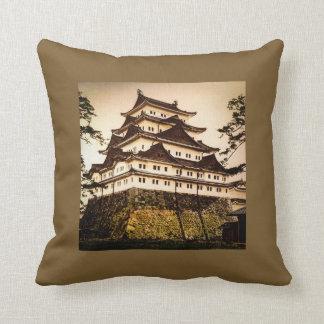 Castillo de Nagoya en 名古屋城 antiguo del vintage de Cojín Decorativo