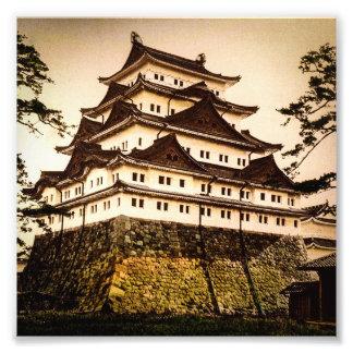 Castillo de Nagoya en 名古屋城 antiguo del vintage de Foto