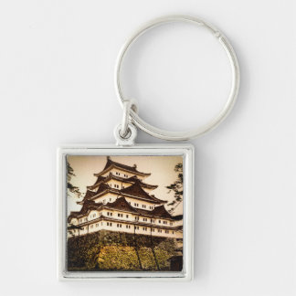 Castillo de Nagoya en 名古屋城 antiguo del vintage de Llavero