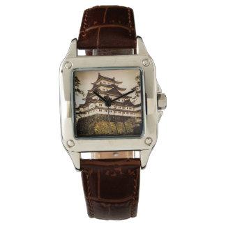 Castillo de Nagoya en 名古屋城 antiguo del vintage de Reloj