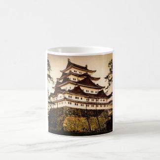 Castillo de Nagoya en 名古屋城 antiguo del vintage de Taza De Café