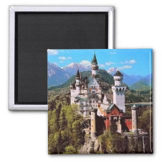 castillo de Neuschwanstein - Alemania Imán Cuadrado