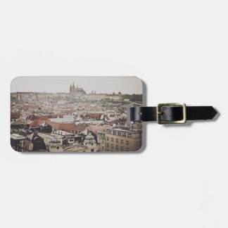 Castillo de Praga en la ciudad de la República Etiqueta Para Maletas