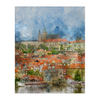 Castillo de Praga en República Checa Impresión Acrílica