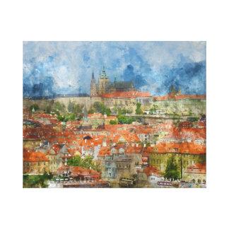 Castillo de Praga en República Checa Impresión En Lienzo