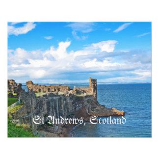 Castillo de Saint Andrews, Escocia Tarjeton