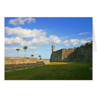 Castillo de San Marcos Tarjeta De Felicitación