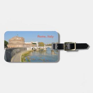 Castillo de Sant'Angelo en Roma, Italia Etiqueta Para Maletas