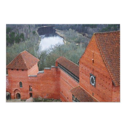 Castillo de Turaida por el río de Gauja, Sigulda,  Fotografías